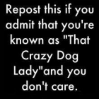Are you The Crazy Dog Lady?